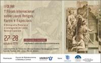 I Fórum Internacional sobre Livros Antigos, Raros e Especiais - Transmissão ao vivo